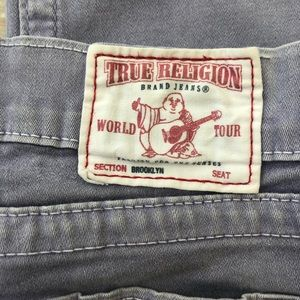 True Religion Jeans - Lilac Cropped True Religion Jeans